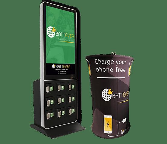 Cargadores para móviles en negocios y eventos