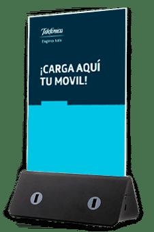 Porte-menu avec chargeurs de smartphones