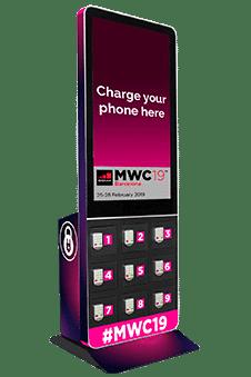 Taquilla para móviles con pantalla
