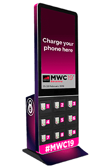 Taquilla para móviles con pantalla OOH DOOH